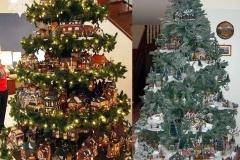 идеи оригинальных елок с полками