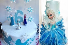 новогодние торты снежная королева