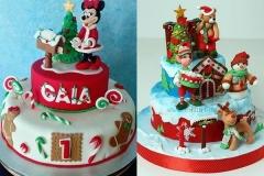 детские новогодние торты