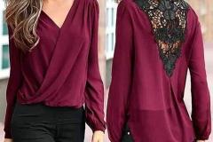 бордовая блузка