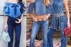 джинсовые топы иблузы