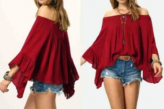 свободного кроя блузка