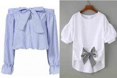 блузки с бантиком