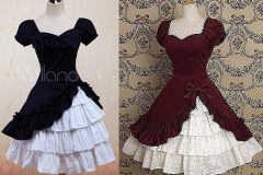 Wine-White-Lolita-OP-Dress-Short-Sleeves-withe-Ruffles-7761-56