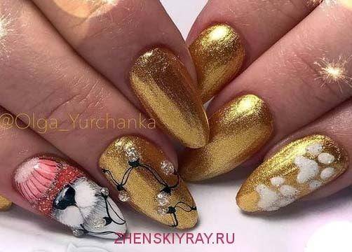 золотой дизайн ногтей 2018 идеи
