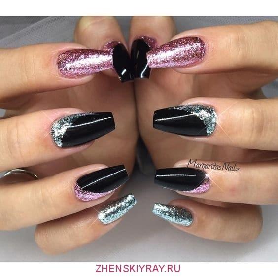 фото блестящих ногтей