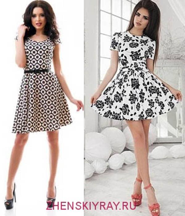 черно белые платья короткие тенденции 2018