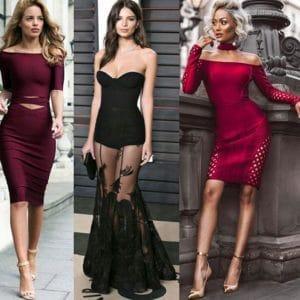 открытые плечи фото модные платья 2018