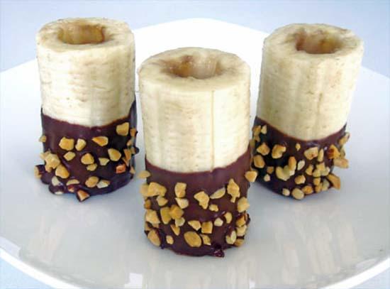 десерт из бананов с кремом