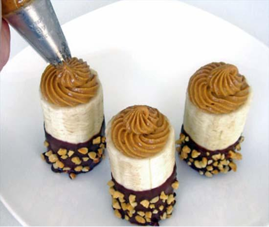 десерт из бананов с нутеллой