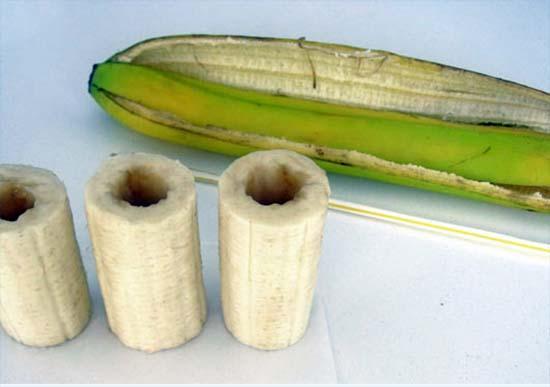 красивое блюдо подача бананов