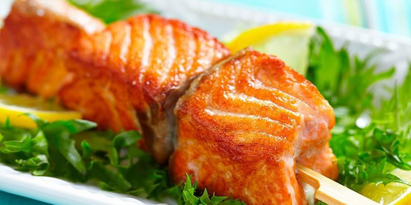 шашлык из красной рыбы рецепт