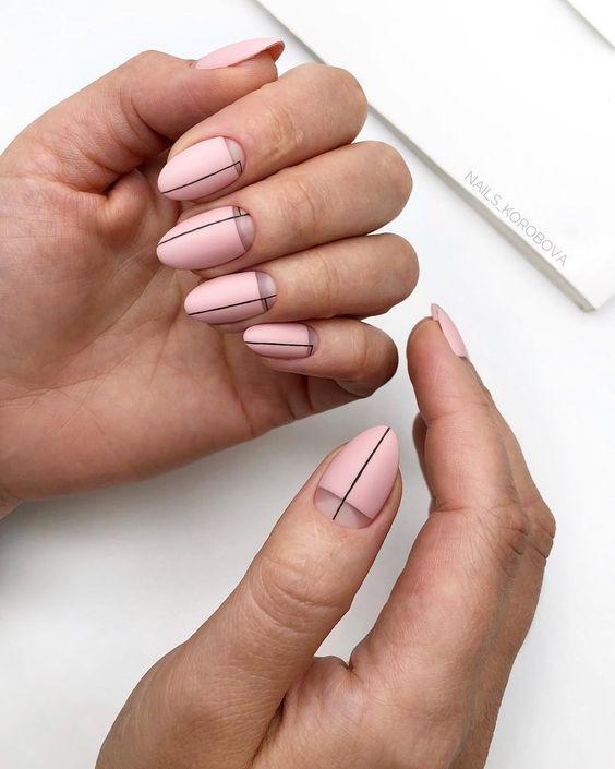 нежная палитра в модном дизайне ногтей