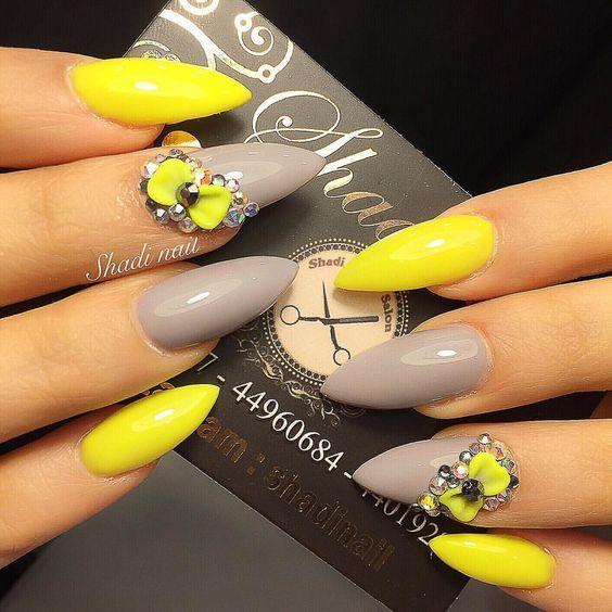 ногти желтого цвета 2019