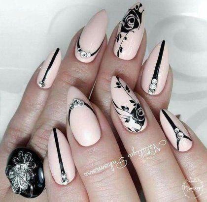 идеи декора ногтей миндалевидной формы