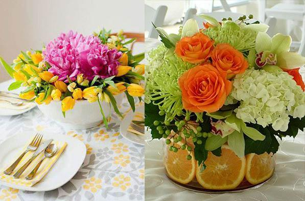 букет декор цветами