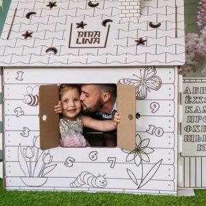 картонный дом раскраска конструктор увлекательная игра для детей