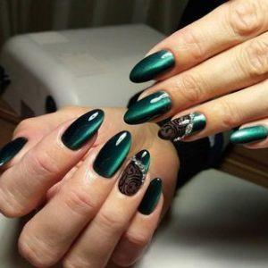 дизайн ногтей идеи в зеленых тонах