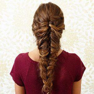 как заплести косу в стиле русалки