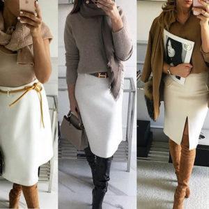 модные образы в юбках 2019