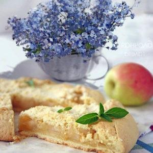 рецепт яблочного пирога галета