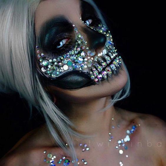 восхитительный макияж хэллоуин