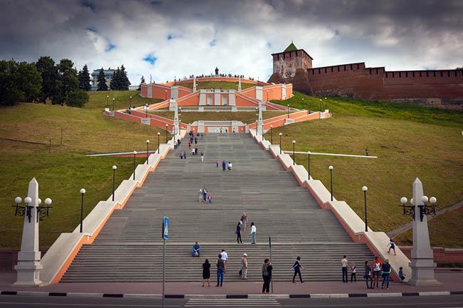 Чкаловская лестница ННовгород