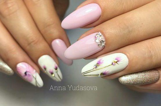 романтичный маникюр образ ногти