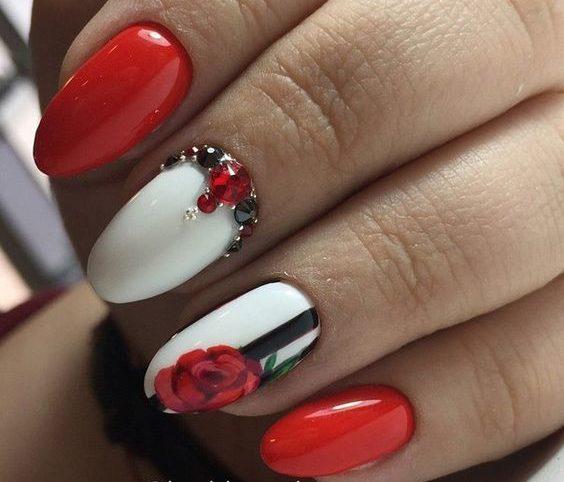 цветы ногти маникюр идеи