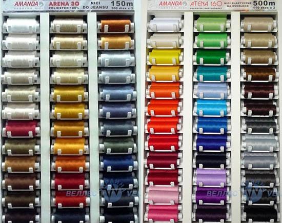 нитки для машин швейный виды