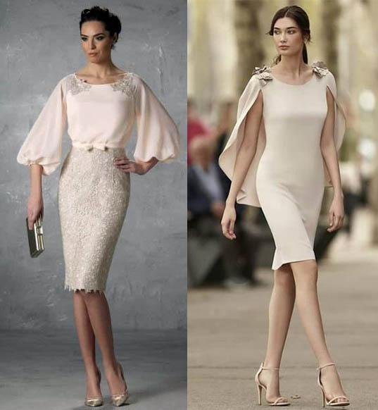 бежевые платья кейп и рукава