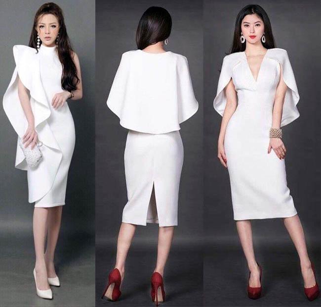 идеи деловых платьев белого цвета