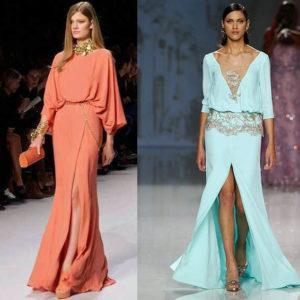 модели длинных платьев в деловом стиле