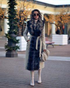 пальто с мехом 2019