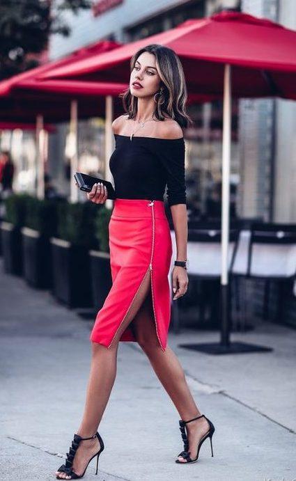 мода юбки 2019 2020 фото с молнией разрез