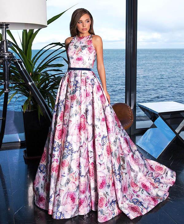 Leila платье на выпускной с цветами