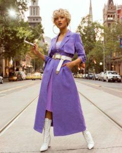 фиолетовое пальто 2019