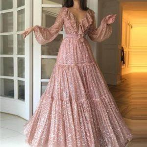 вечернее модное платье
