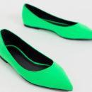 балетки неоновые зеленые кислотные