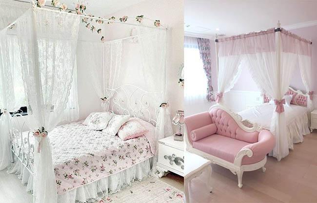 красивый интерьер спальни в стиле Прованс фото