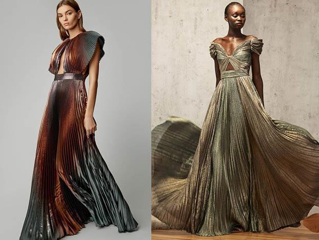 модные платья плиссе 2019-2020