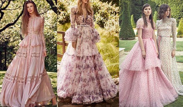 невероятные платья в стиле бохо, пышные наряды
