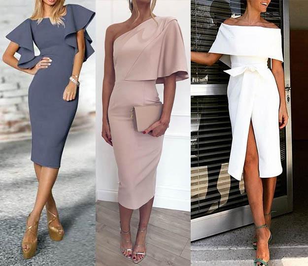 модные платья футляр 2019-2020 фото оригинального кроя