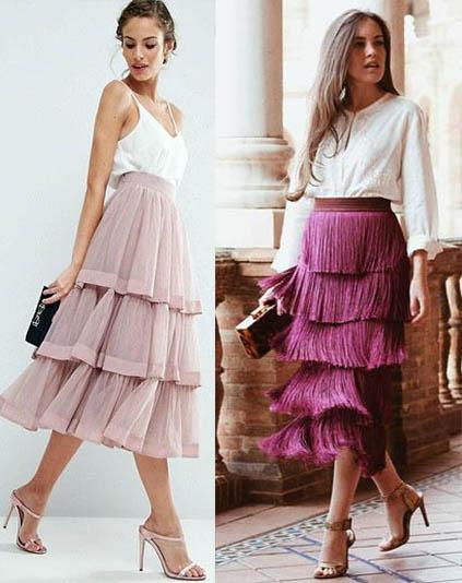 модная дизайнерская юбка 2020-2021 фото