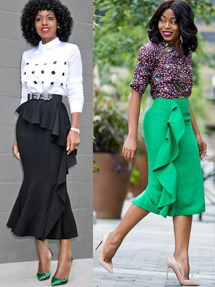 стильные  юбки с рюшами оборками и воланами 2020-2021 фото