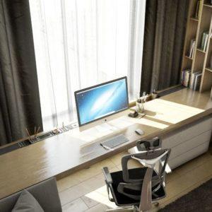 рабочий кабинет домашний интерьер фото