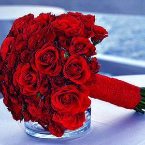как сделать свадебный букет из красных роз своими руками