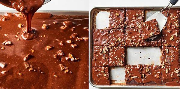 шоколадное пирожное с орехами рецепт приготовления
