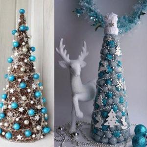 новогодние елки в голубом цвете своими руками