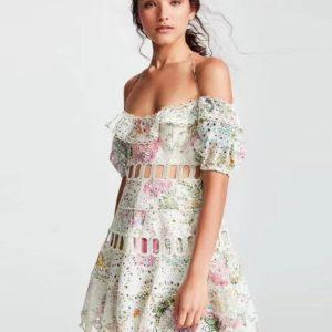 летние платья из прошвы 2020 фото